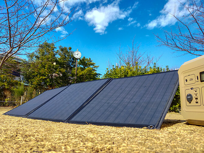 PowerArQ Solar 120Wの出力テスト