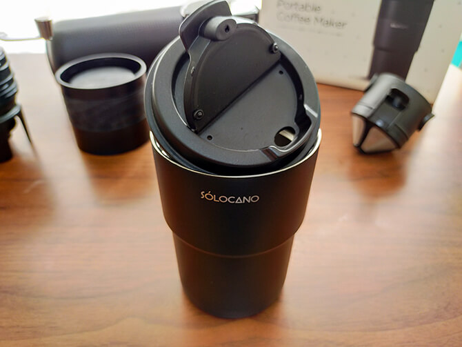 ポータブルコーヒーメーカーSoloCanoのステンレスタンブラー