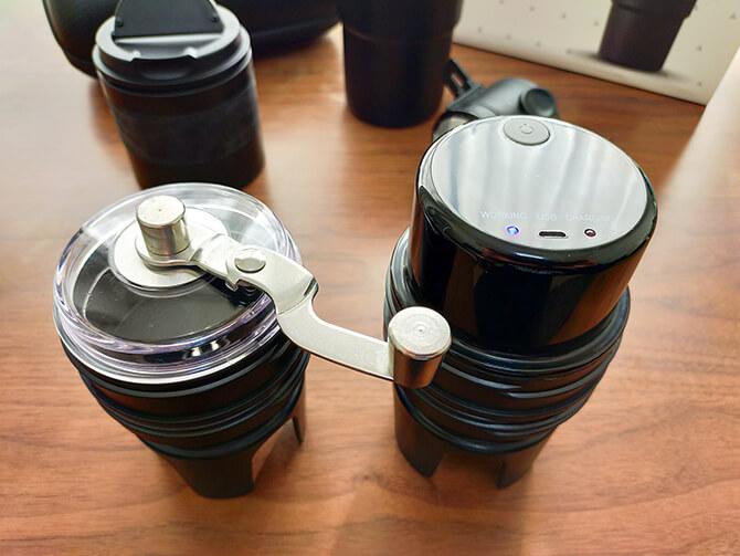 ポータブルコーヒーメーカーSoloCanoのミル