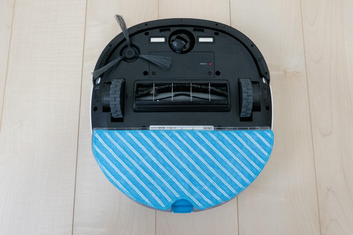 アイリスオーヤマのロボット掃除機 IC-R01の特長 吸引+水拭き掃除が同時にできる