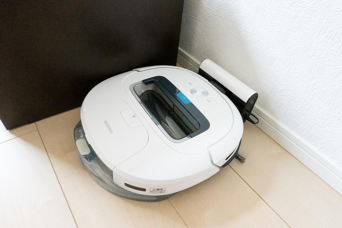 アイリスオーヤマのロボット掃除機 IC-R01の特長 自動充電・落下防止・タイマーなど必要十分な機能