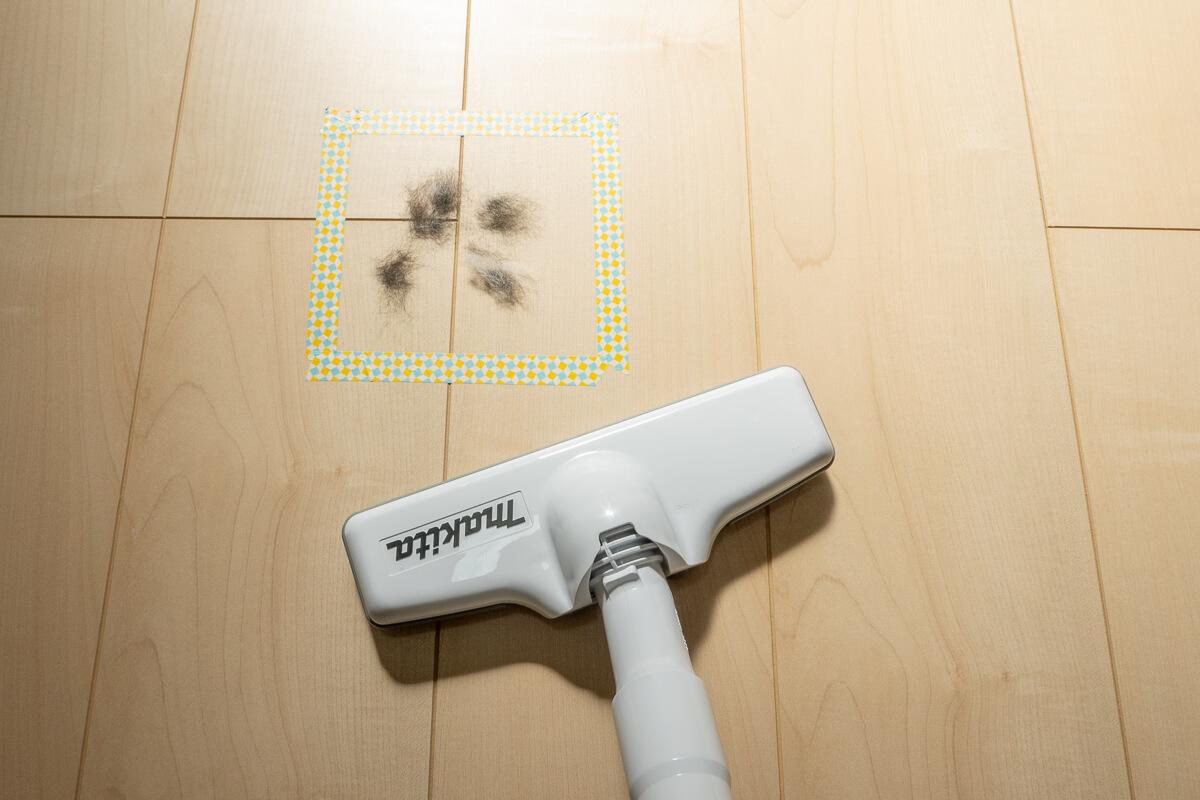 マキタ掃除機のパワーを4種類の疑似ゴミで検証