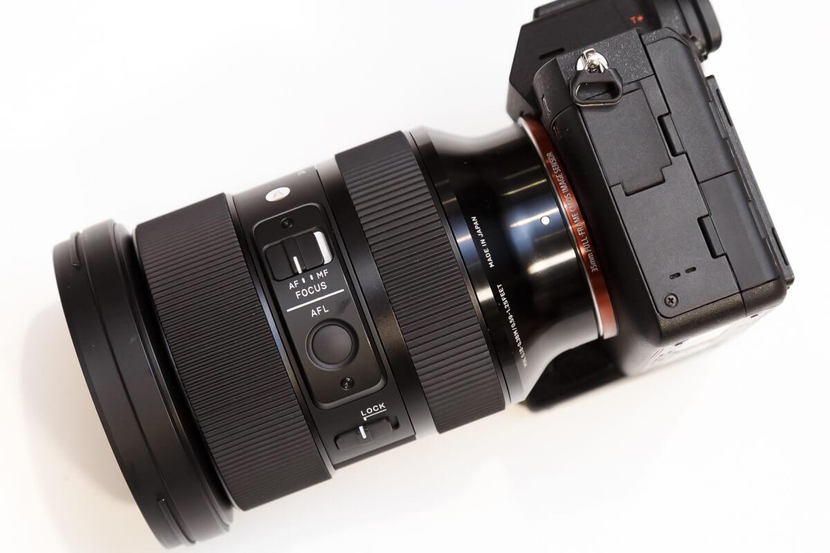 SIGMA 24-70mm F2.8 DG DN AFLボタン