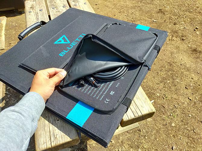 BLUETTI 200W ソーラーパネル(SP200)の収納ポケット