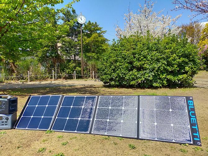 BLUETTI 200W ソーラーパネル(SP200)の出力チェック