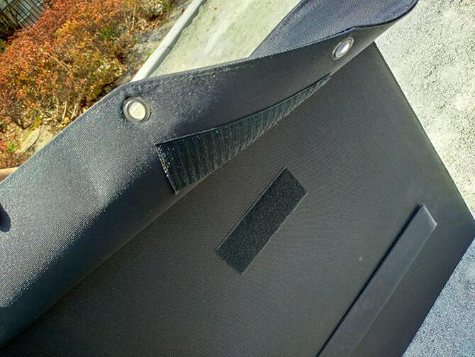 CHOETECH 120Wソーラーパネルのマジックテープ収納