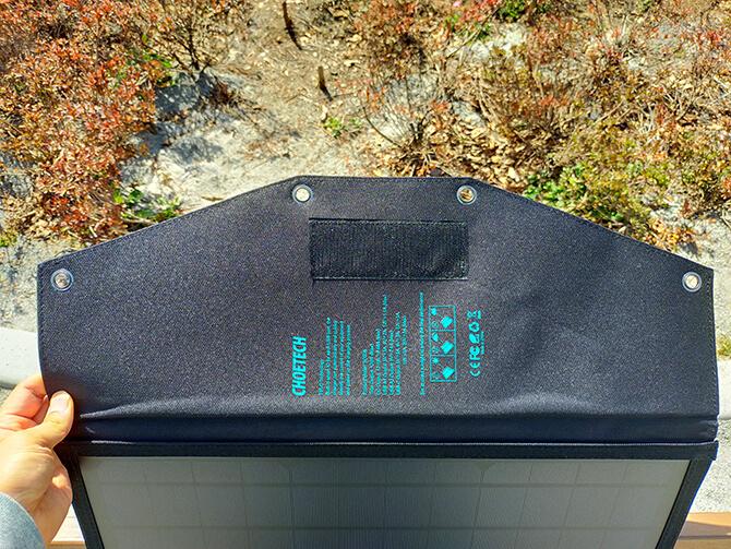 CHOETECH 120Wソーラーパネルのフックホール