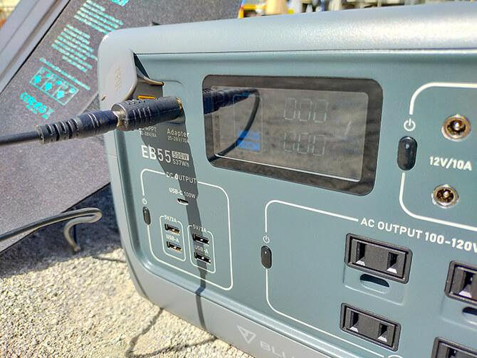 CHOETECH 120WソーラーパネルはEB55で使えない