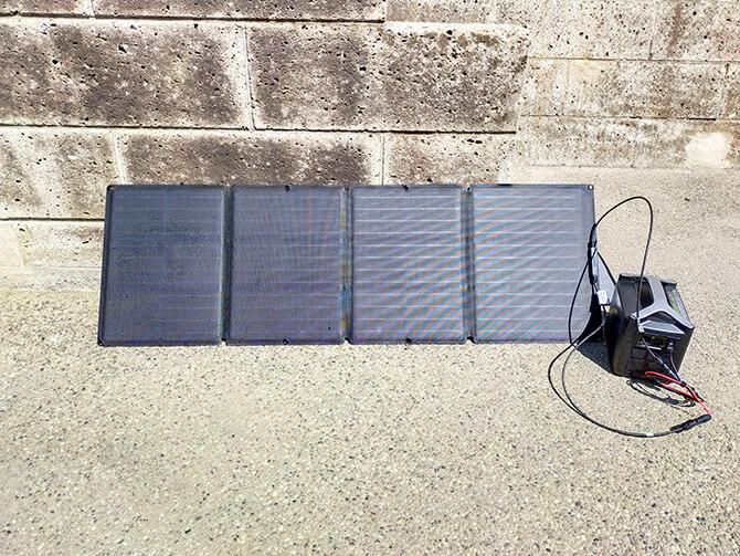 EcoFlow 110Wソーラーチャージャーの角度調整