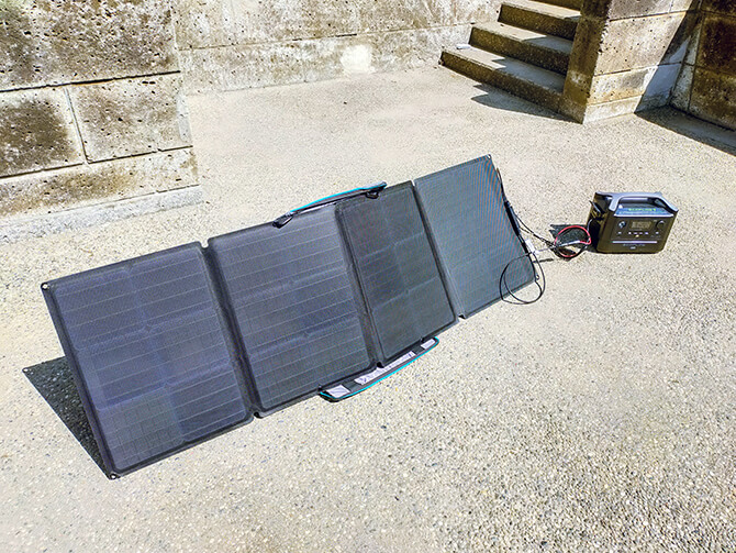 EcoFlow 110Wソーラーチャージャーの出力
