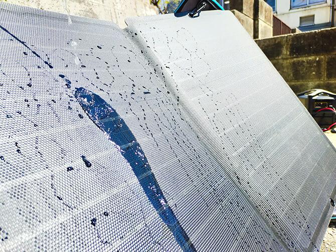 EcoFlow 110Wソーラーチャージャーの防塵防水性能