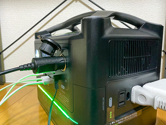EcoFlow RIVER Maxは同時に10充給電が可能