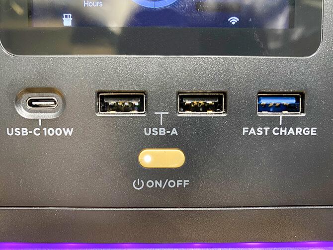 EcoFlow RIVER MaxのUSBは急速充電
