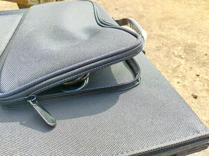 ELECAENTA 120Wソーラーパネルの外側ポケット
