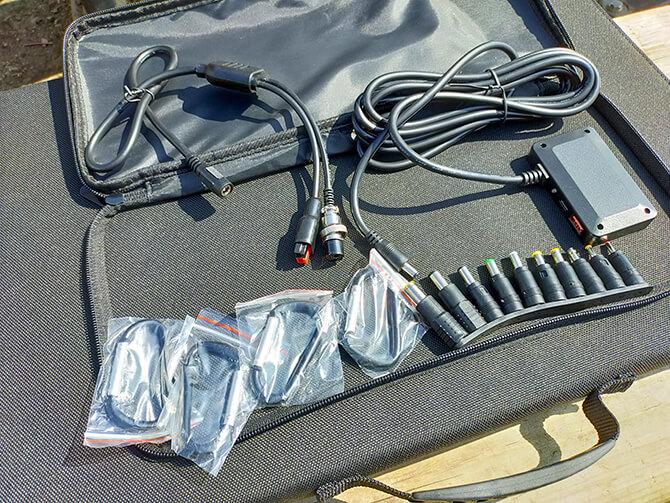 ELECAENTA 120Wソーラーパネルのセット内容