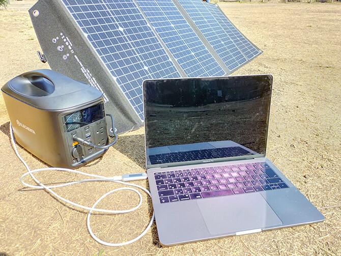 ELECAENTA 120Wソーラーパネルの出力テスト