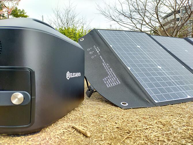 ELECAENTA S600Wとソーラーパネル