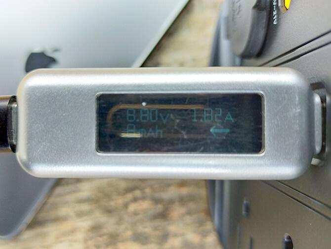ELECAENTA S600WのUSB-A出力テスト