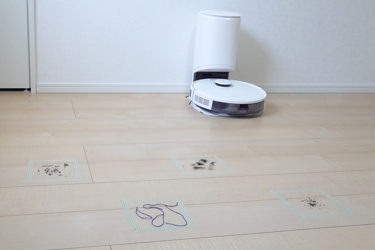 エコバックス「DEEBOT N8+」で清掃し実力を検証 フローリングの吸引清掃テスト
