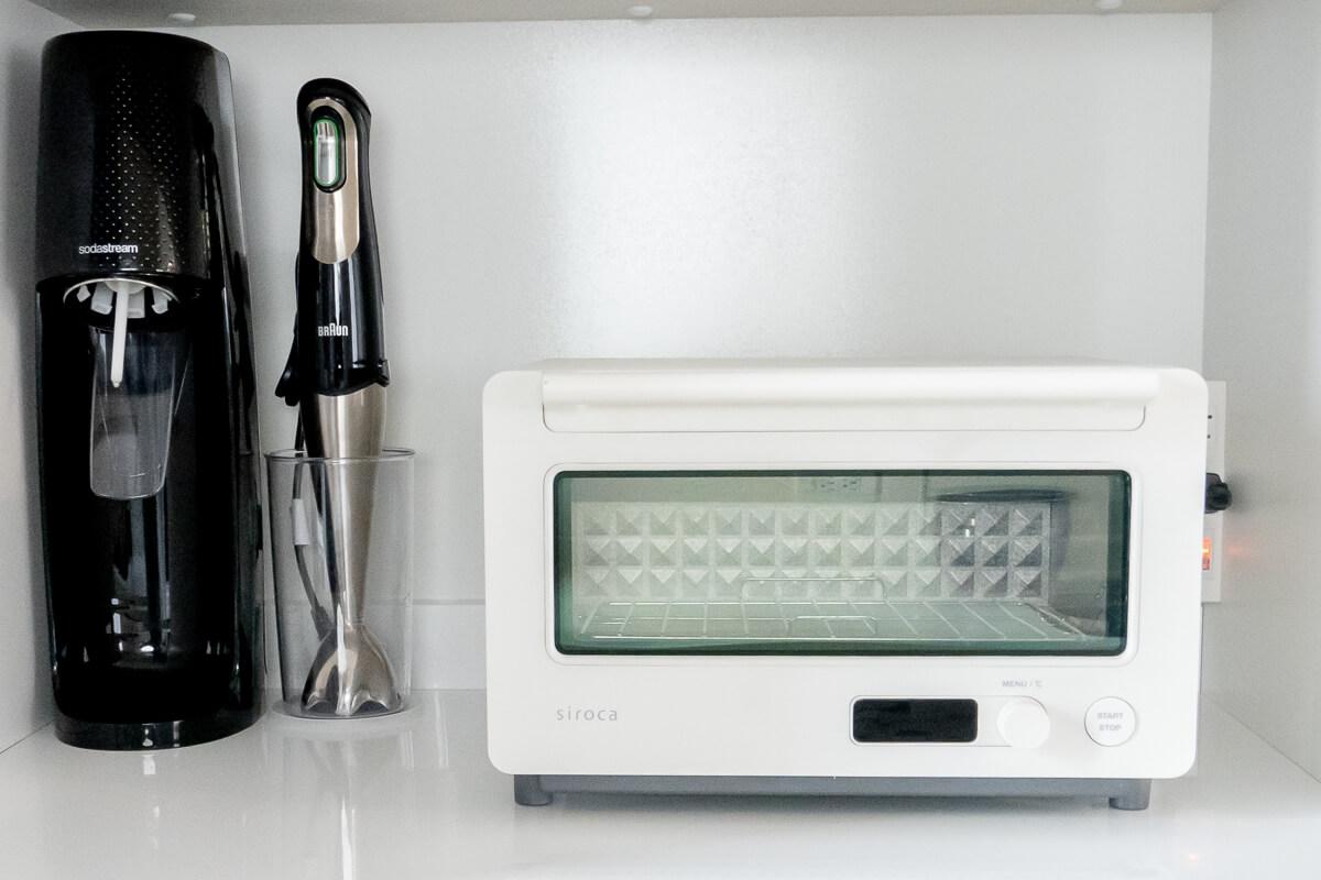シロカのすばやきトースターST-2D351の特長 キッチンに馴染むシンプルデザイン