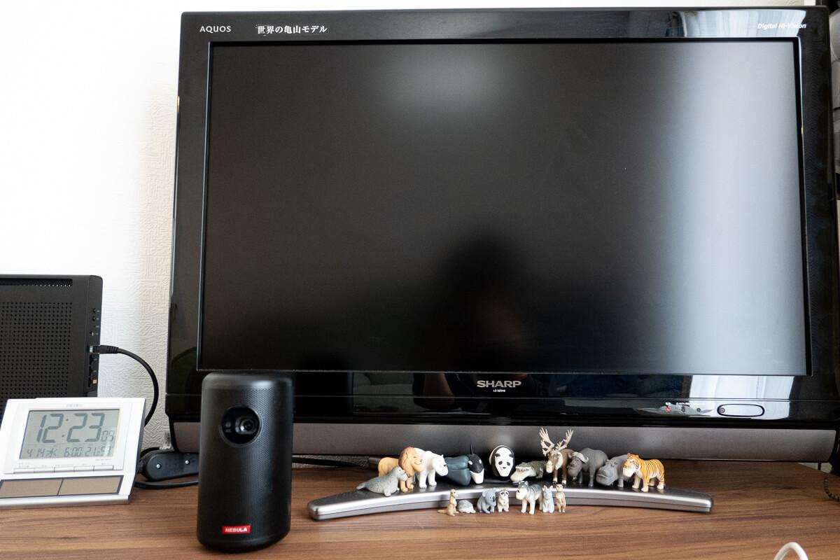 """""""テレビ代わりにプロジェクター生活""""体験してわかったメリット・デメリット ○ テレビのスペースが空くので家の中がスッキリする"""