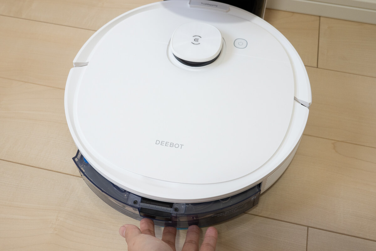 エコバックス「DEEBOT N8+」で清掃し実力を検証 自動モードで吸引+水拭き清掃