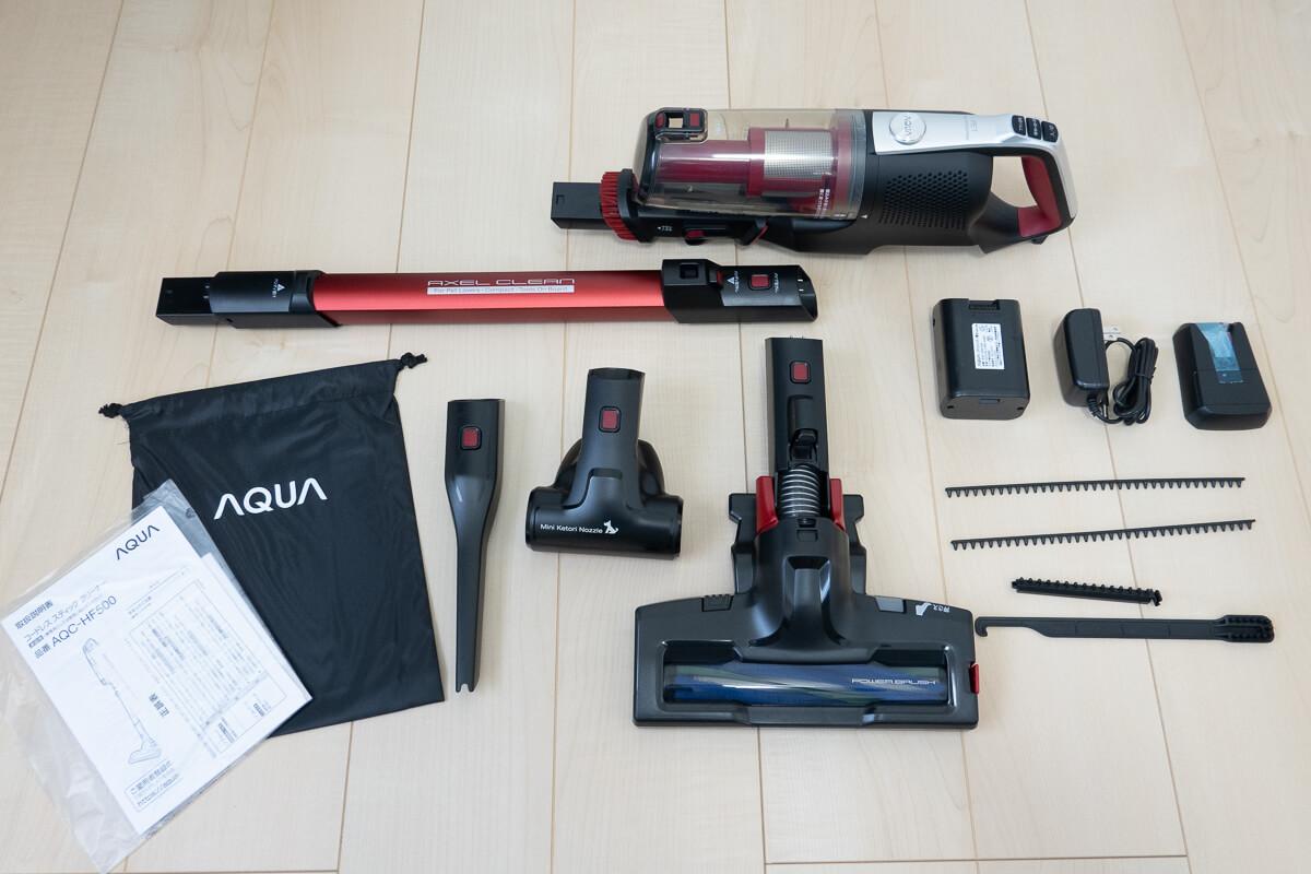 ペットと暮らすお家向けのコードレス掃除機 AQUA AQC-HF500