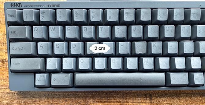 HHKB Professional HYBRID Type-Sのキーピッチ