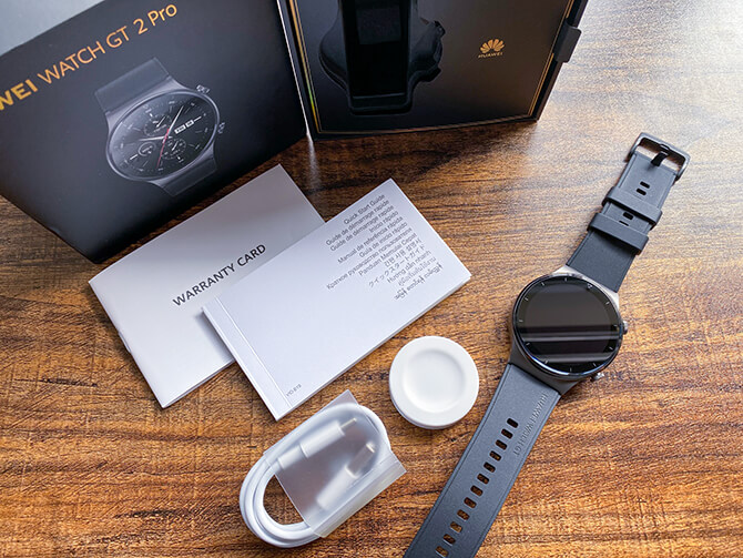 HUAWEI WATCH GT 2 Proのセット内容