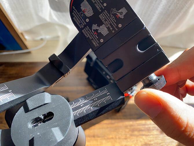 MOZA Mini-PにLブラケットとカメラを取り付ける