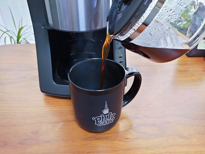 パナソニック NC-A57-Kでコーヒーを実飲