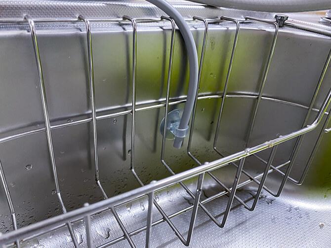 パナソニックのアルカリイオン整水器 TK-AS47の排水ホースの設置