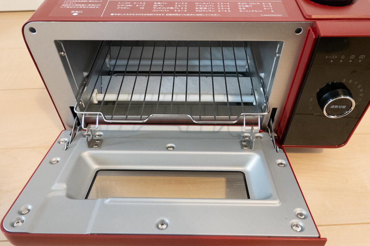 過熱水蒸気トースター「SHARP ヘルシオ グリエ」の特長  お手入れしやすい庫内構造