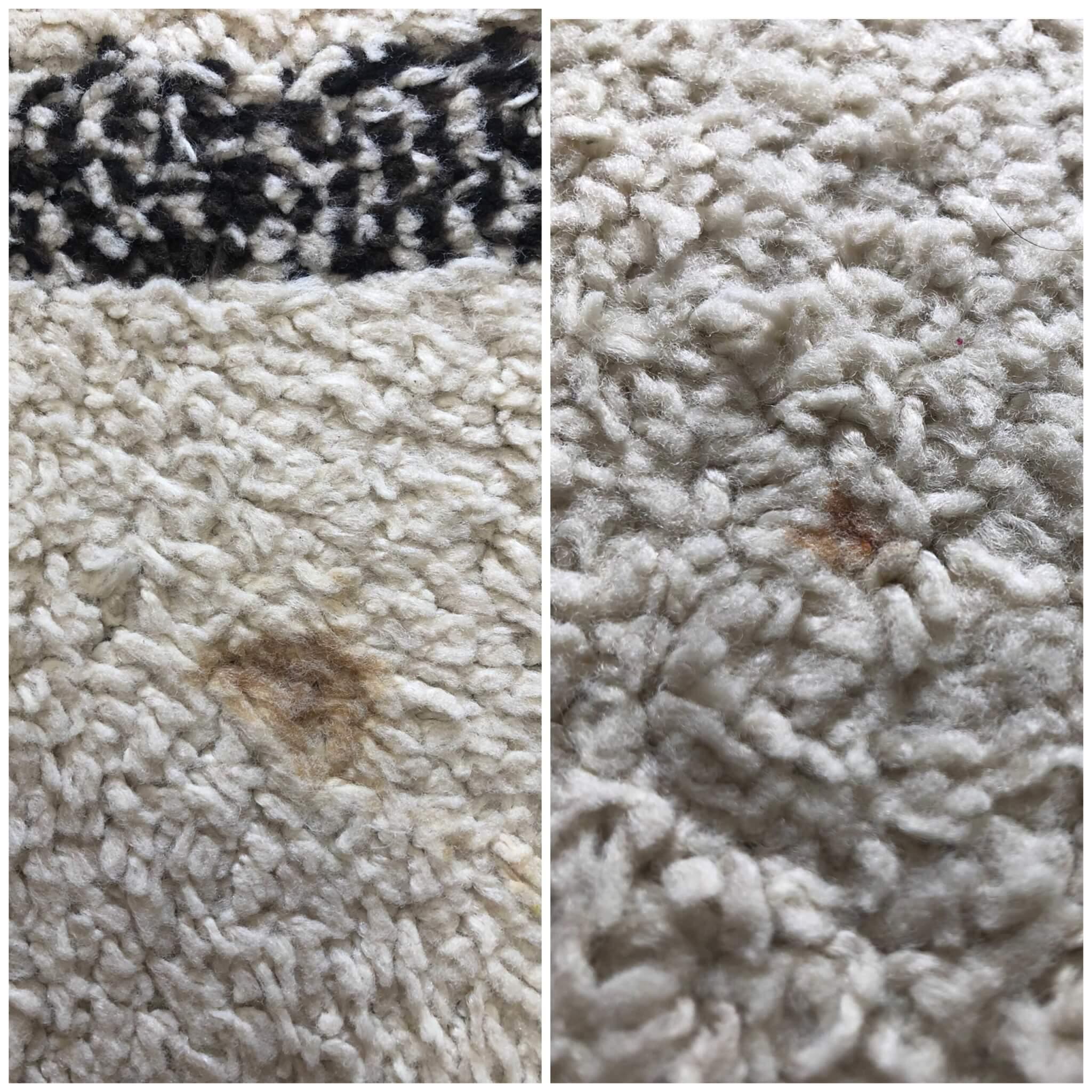 シミがあるカーペット