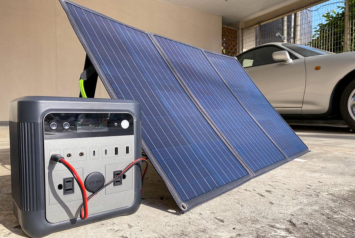ZENDURE 100Wポータブルソーラーパネルを実機レビュー!外側ポケットに嬉しい特長を発見