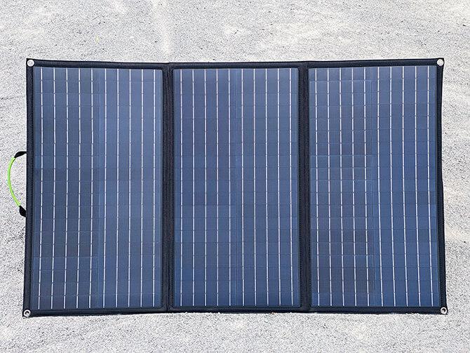 ZENDURE 100Wポータブルソーラーパネルの出力パワー