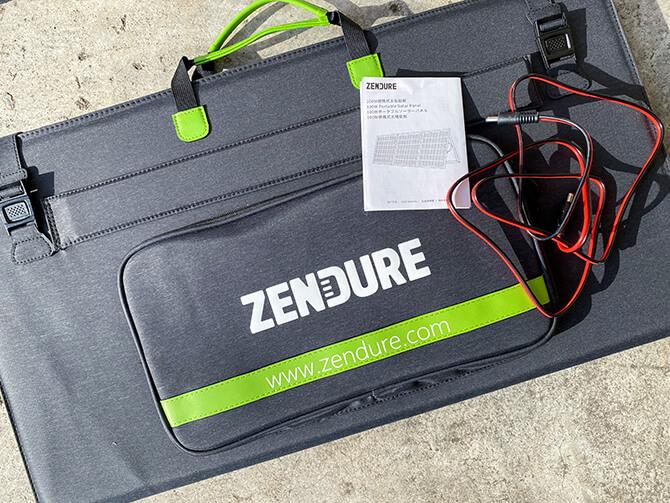 ZENDURE 100Wポータブルソーラーパネルのセット内容