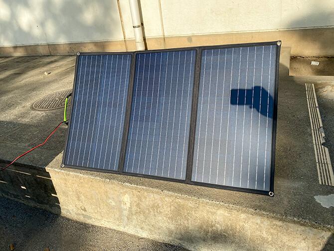 ZENDURE 100Wポータブルソーラーパネルで太陽光発電してみた