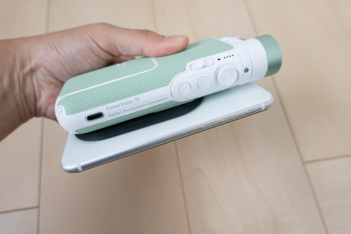 超小型&多機能なスマホ用ジンバル「PowerVision S1」 大容量バッテリーでスマホのワイヤレス充電も可能