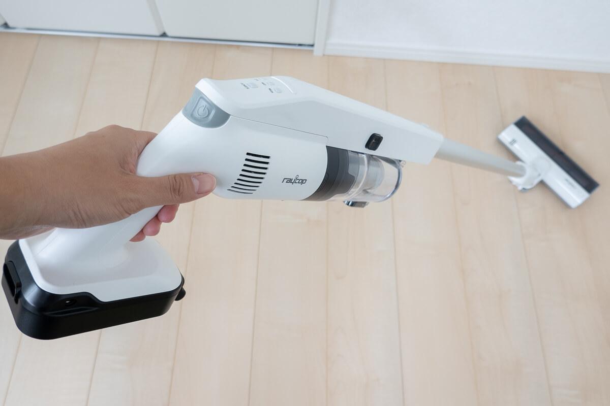 UV除菌できるレイコップのコードレス掃除機RSC-300 使用レビュー!他機種との違いも比較