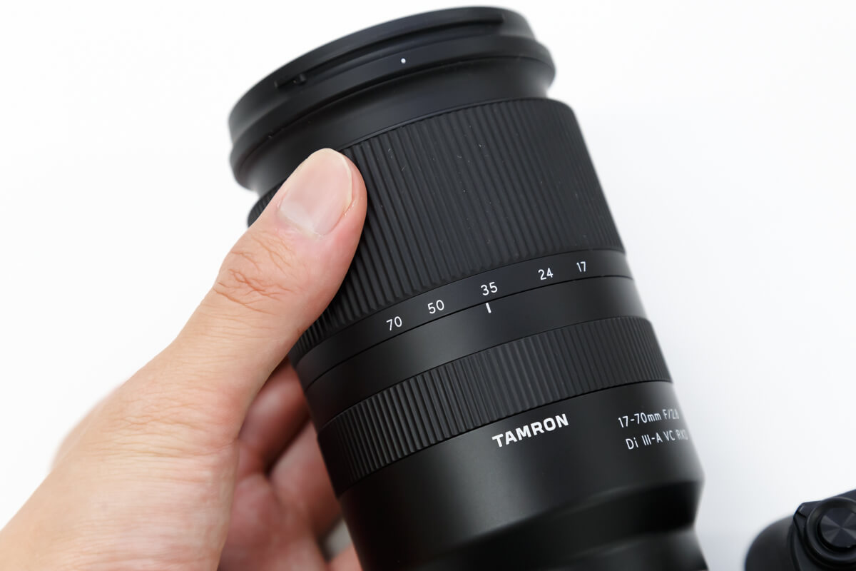 TAMRON 17-70mm F/2.8 Di III-A VC RXD ズームリング