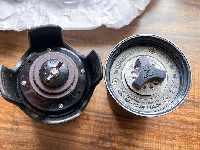 コーヒー手挽きミルの刃の素材