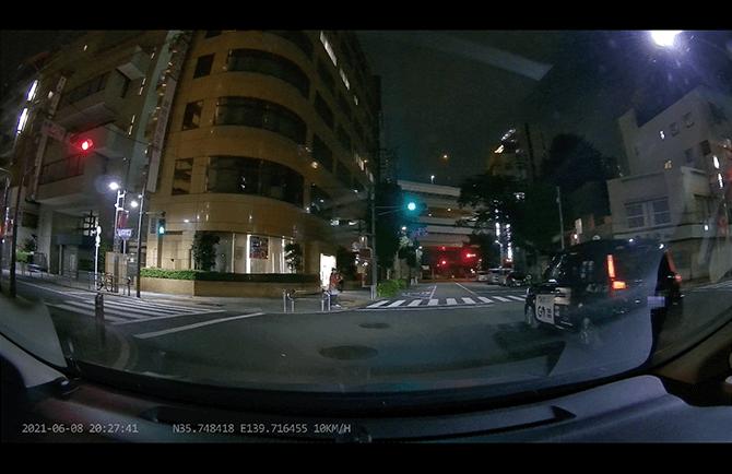 JAPAN AVE. 4KドライブレコーダーGT65の夜間映像