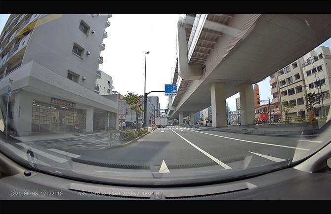 JAPAN AVE. 4KドライブレコーダーGT65の視野角