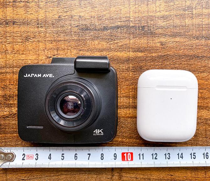 JAPAN AVE. 4KドライブレコーダーGT65のサイズ感
