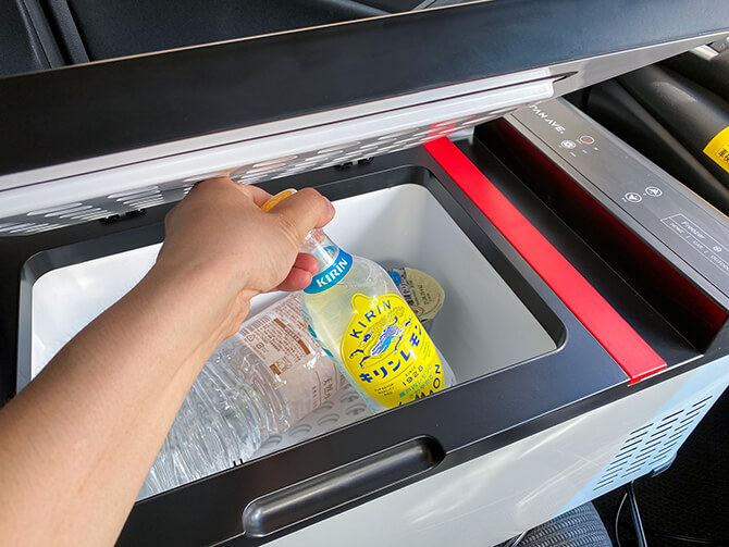 JAPAN AVE.の車載冷蔵庫JA2800の実機レビュー
