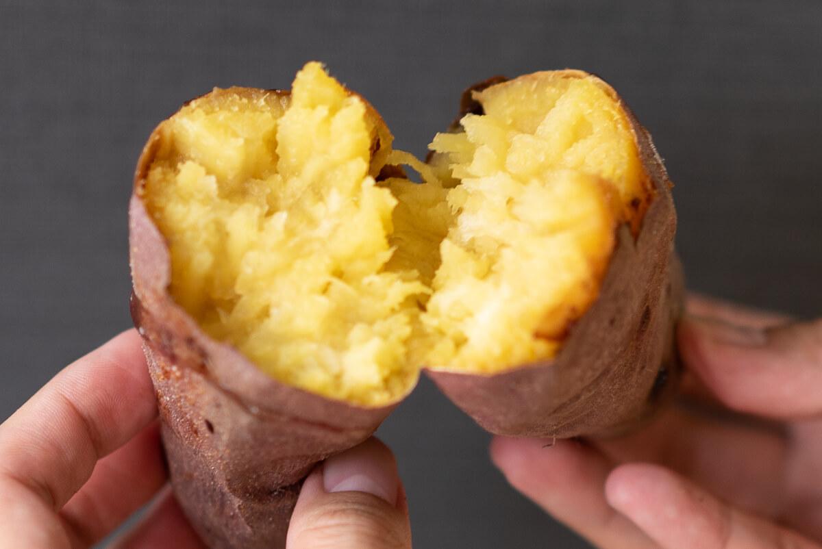 実食!完成した焼き芋を食べ比べ シャープ ヘルシオ グリエ シルクスイート