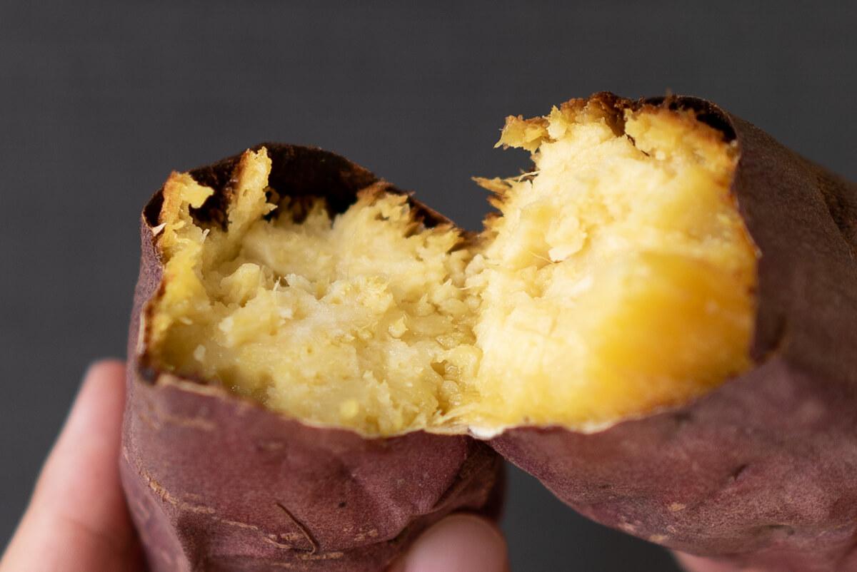 実食!完成した焼き芋を食べ比べ パナソニック オーブントースター ビストロ 紅はるか