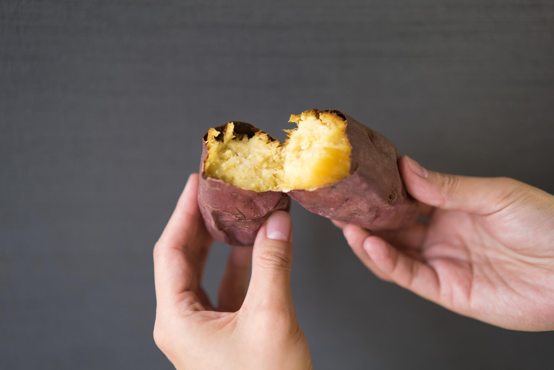 実食!完成した焼き芋を食べ比べ パナソニック オーブントースター ビストロ シルクスイート