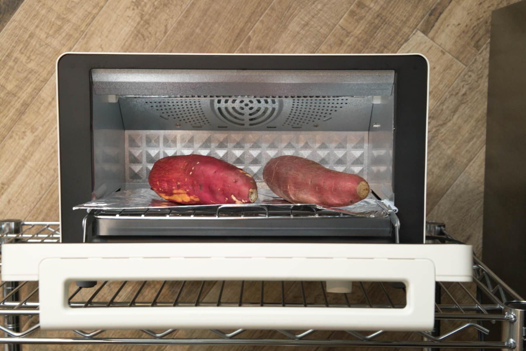 5種類の人気オーブントースターで焼き芋作り検証 シロカ すばやきトースター